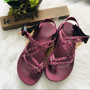 Chaco ZX/2 Purple Tribal Print Sandals SzW8